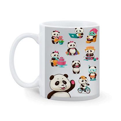 Cartoon Panda Pattern Ceramic Coffee Mug 325 ml