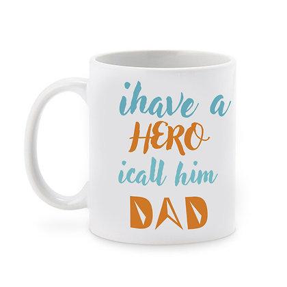 My Dad is My Hero Printed Ceramic Coffee Mug 325 ml
