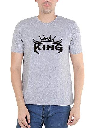 King Printed Regular Fit Round Men's T-shirt