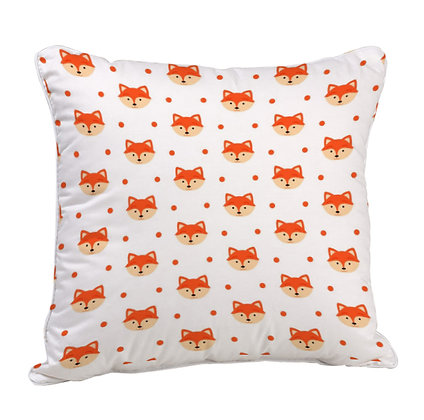 Cute Cat Pattern Satin Cushion Pillow with Filler