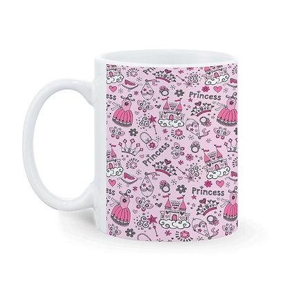 Princess Pattern Ceramic Coffee Mug 325 ml