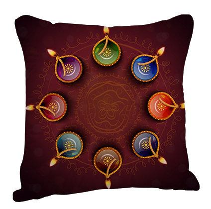 ColorFul Deep Satin Cushion Pillow with Filler