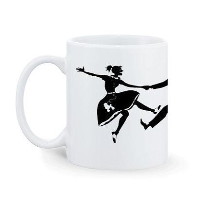 Engilsh Mam Desi Babu Printed Mug SKU