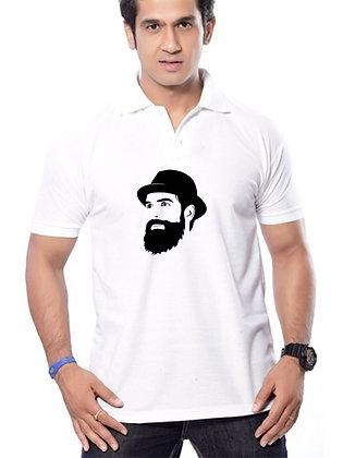 Look Printed Regular Fit Polo Men's T-shirt