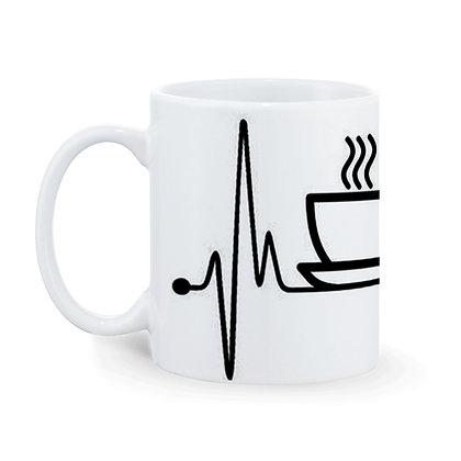 Tea Life Printed Ceramic Coffee Mug 325 ml