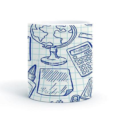 Student Class Word Cloud Printed Ceramic Coffee Mug 325 ml