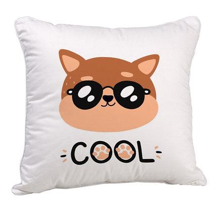 Cool Cat  Satin Cushion Pillow with Filler