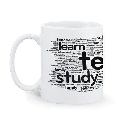 Teacher Theme Printed Ceramic Coffee Mug 325 ml