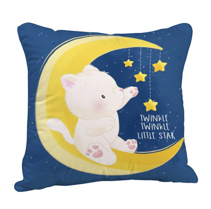 Twinkle Twinkle Little Star Satin Cushion Pillow with Filler