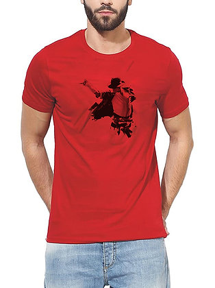 Michael Jackson Regular Fit Round Men's T-shirt