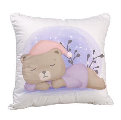 Sleeping Panda Satin Cushion Pillow with Filler