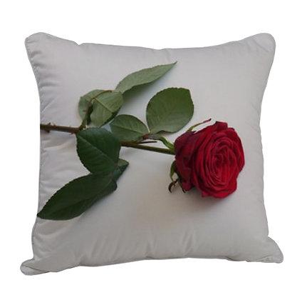 Rose Satin Cushion Pillow with Filler