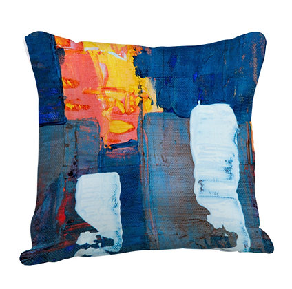 Colorful Paint Brush  Artwork Satin Cushion Pillow with Filler