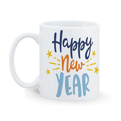 Happy New Year Printed Ceramic Coffee Mug 325 ml