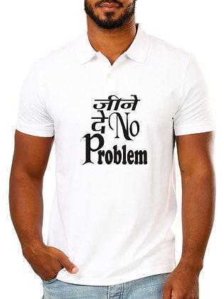 Jeene De No Problem Printed Regular Fit Polo Men's T-shirt