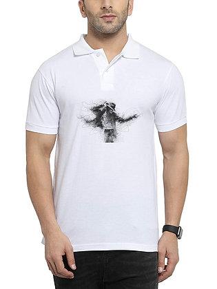 Michael Jackson Printed Regular Fit Polo Men's T-shirt