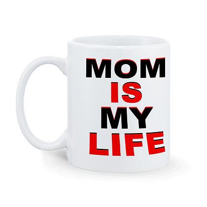 Mom is my life Printed Ceramic Coffee Mug 325 ml