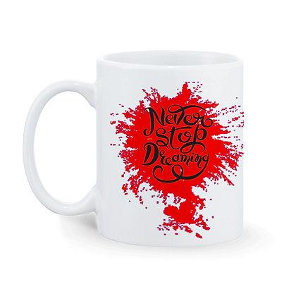 Never Stop Dreaming Magic Printed Ceramic Coffee Mug 325 ml