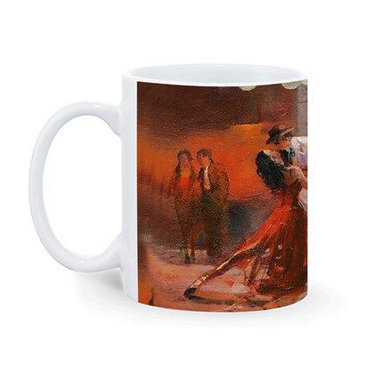 Music with Dance  Printed Ceramic Coffee Mug 325 ml
