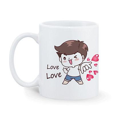 LOVE LOVE Printed Ceramic Coffee Mug 325 ml