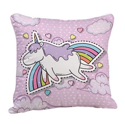 Unicorn Horse Satin Cushion Pillow with Filler