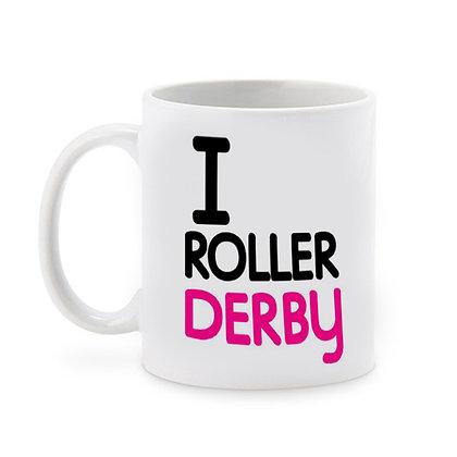 I Roller Derby Printed Ceramic Coffee Mug 325 ml