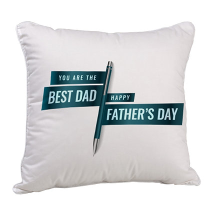 Best DAD Happy Father's Day Satin Cushion Pillow with Filler