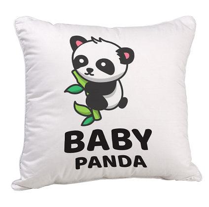 Baby Panda Satin Cushion Pillow with Filler