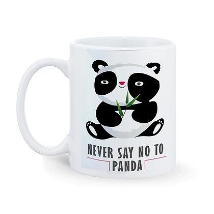Never say no to Panda Printed Ceramic Coffee Mug 325