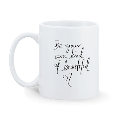 Be your own kind of beauty Printed Ceramic Coffee Mug 325 ml