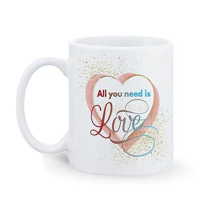 All you need is Love Printed Ceramic Coffee Mug 325 ml