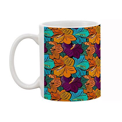 Lily Flower Color Theme Pattern Ceramic Coffee Mug 325 ml