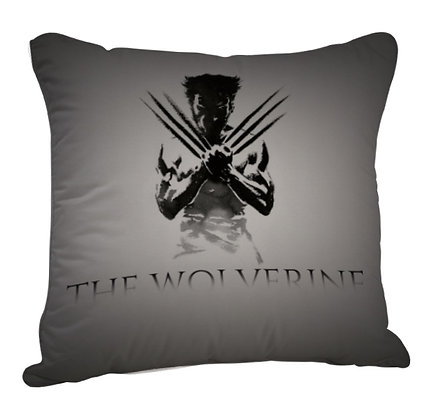 The Wolverine Printed Poly Satin Cushion Pillow with Filler