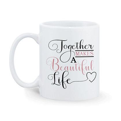 Together  Printed Ceramic Coffee Mug 325 ml