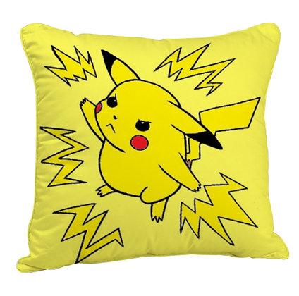 Pokemon  Pikachu Printed Poly Satin Cushion Pillow with Filler