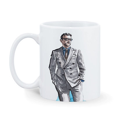 I am Brand Printed Ceramic Coffee Mug 325 ml