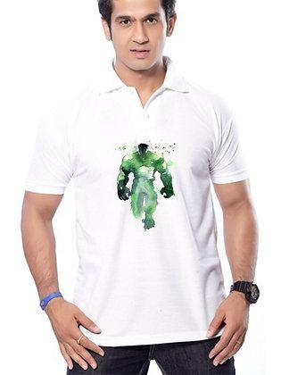 Hulk Printed Regular Fit Polo Men's T-shirt