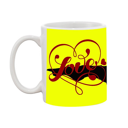 Love - Made For each other Printed Ceramic Coffee Mug 325 ml