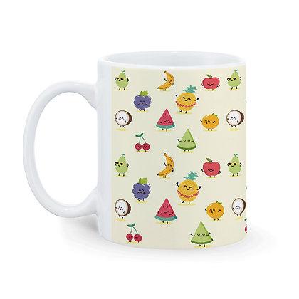 Fruits Pattern Ceramic Coffee Mug 325 ml