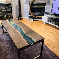 Live Edge Forest River Table Fossil Real