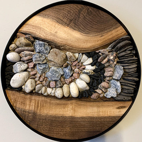 """'Fraktal' 15"""" Stone Art"""