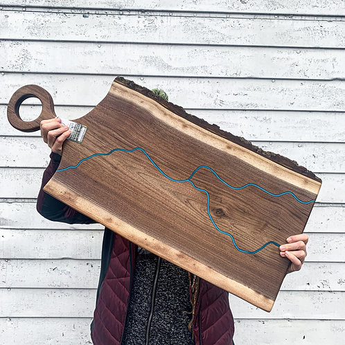 Walnut River Board w/handle