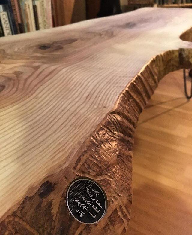 Live Edge Forest Ash Coffee Table