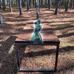 Live Edge Forest River Table Forest