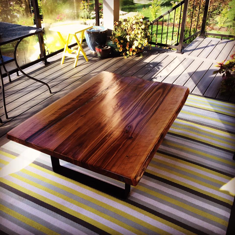 Live Edge Forest Outdoor Table