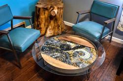 Live Edge Forest aureolammonite table