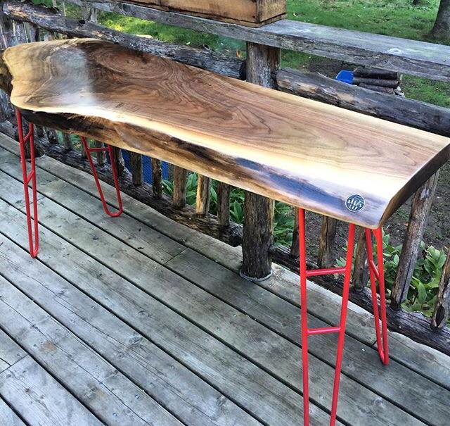 Live Edge Forest Console Table