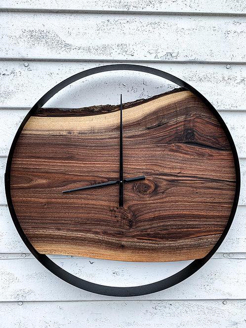 """25"""" Walnut clock"""