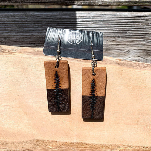 Maple + Walnut Sitka Earrings