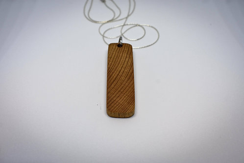 Sterling silver and water reclaimed wood necklace